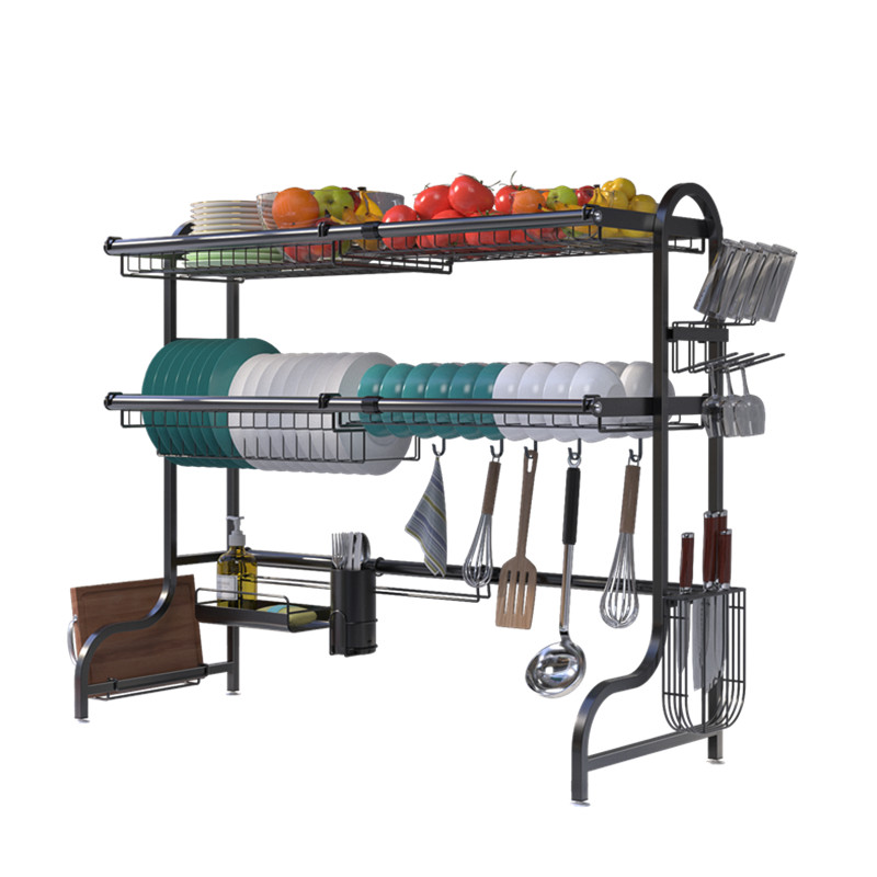 new design stainless steel black kitchen dish pan shelf over sink expandable 25 5 35 4 width 3 tier adjustable dish rack buy 3 tier adjustable dish rack kitchen dish pan shelf stainless steel black kitchen shelf