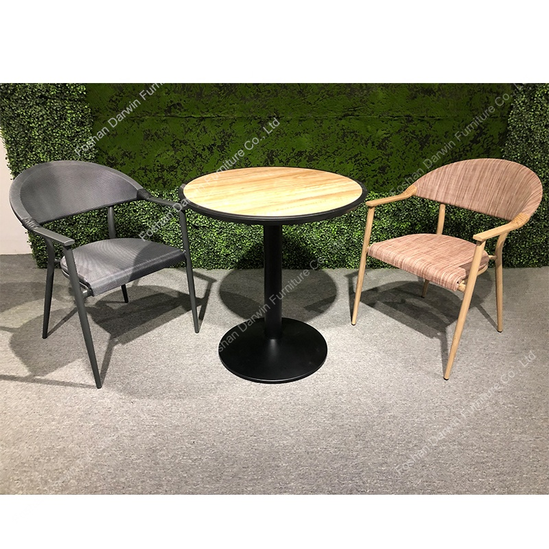 indian outdoor furniture mesh dining set restaurant cafe table and chair aluminum wooden garden patio sets buy garden patio sets mesh outdoor dining set wooden outdoor dining set product on alibaba com