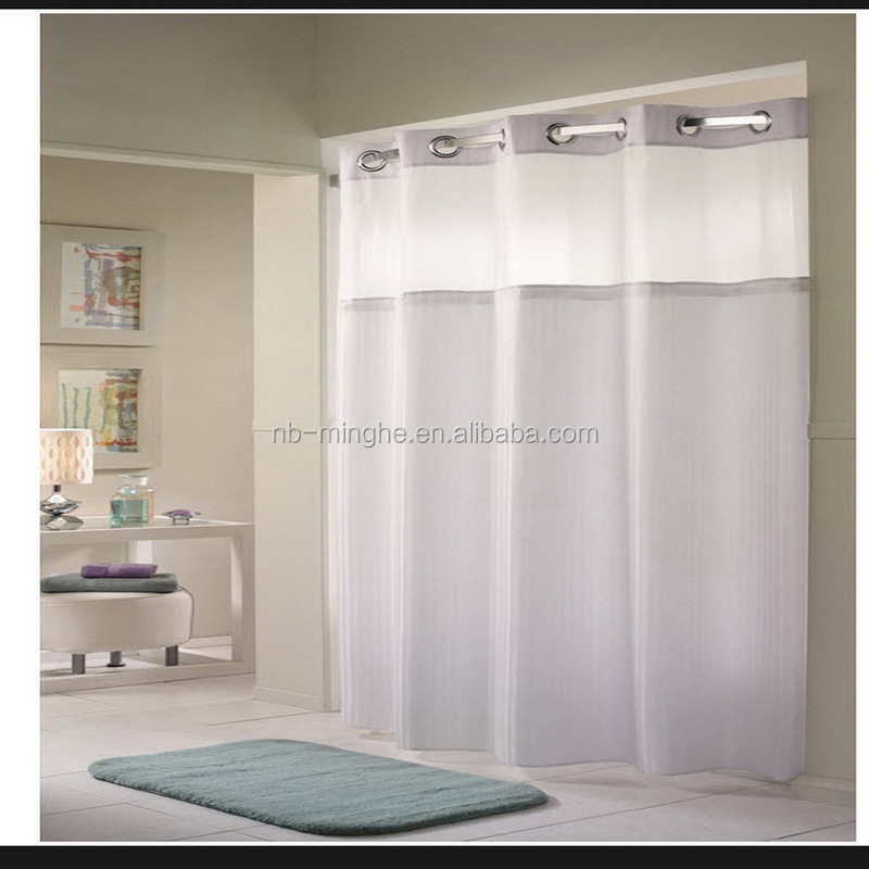 hotel bathroom hookless shower curtain with liner buy hookless shower curtain with liner stocked feature and polyester material hookless shower
