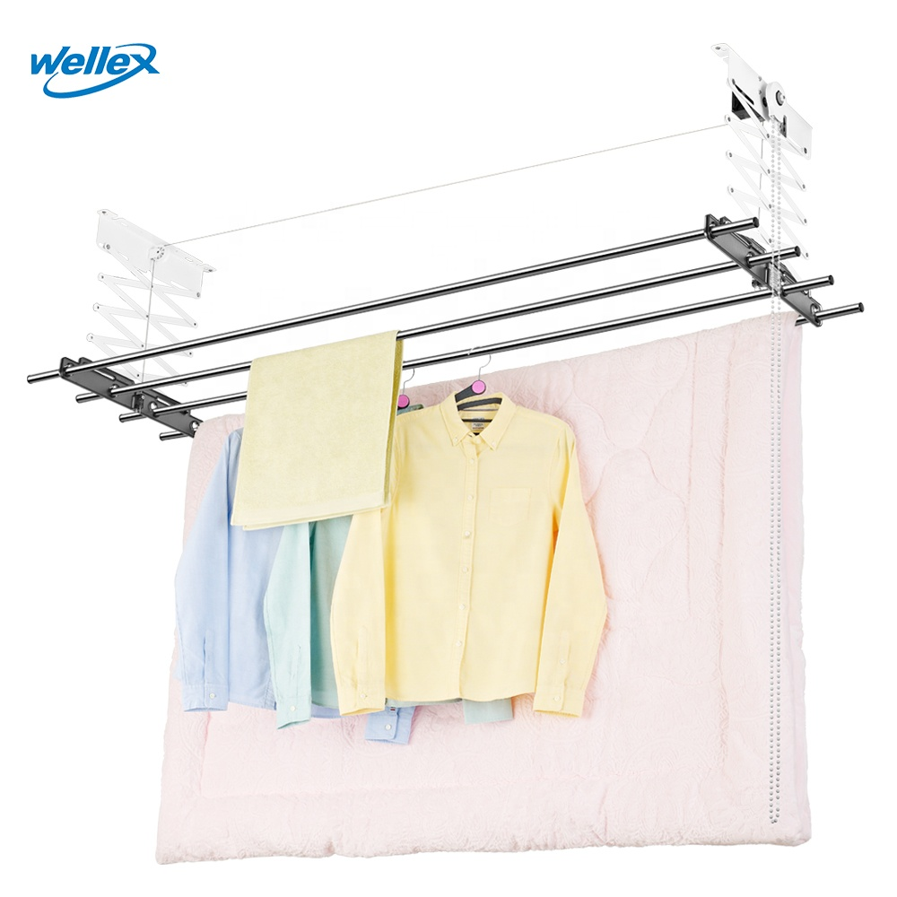 wellex ch4180 semi automatic clothes laundry drying rack straight bar stain steel clothes dryer rack hanger drying hanger buy balcony clothes