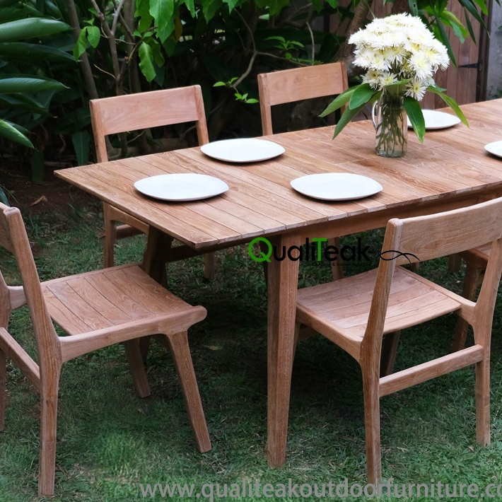 solid teak wood outdoor dining table sets with modern style furniture buy solid teak wood dining table sets teak outdoor dining furnture sets dining