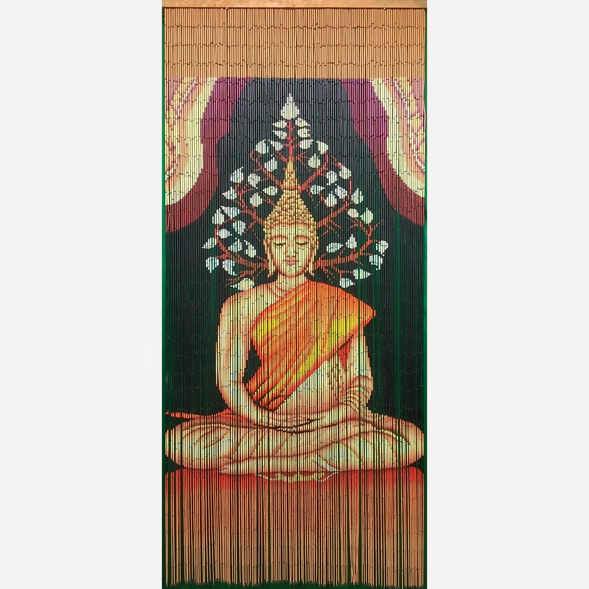 high quality best selling bamboo door curtain with buddha in viet nam buy bamboo door hanging curtain painted bamboo door curtains bamboo curtains