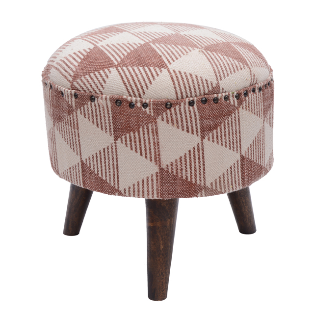 upholstered printed wooden small round ottoman buy upholstered stool ottoman kilim ottoman round footstool ottoman product on alibaba com