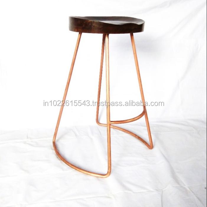tabouret de bar vintage plaque en cuivre siege de tracteur buy vintage industrial bar stools vintage metal bar stool cooper plating bar stool