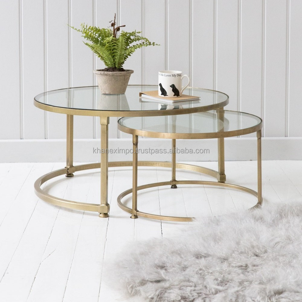 living room furniture gold frame coffee table contemporary metal legs and glass top modern round cocktail table buy living room furniture gold frame