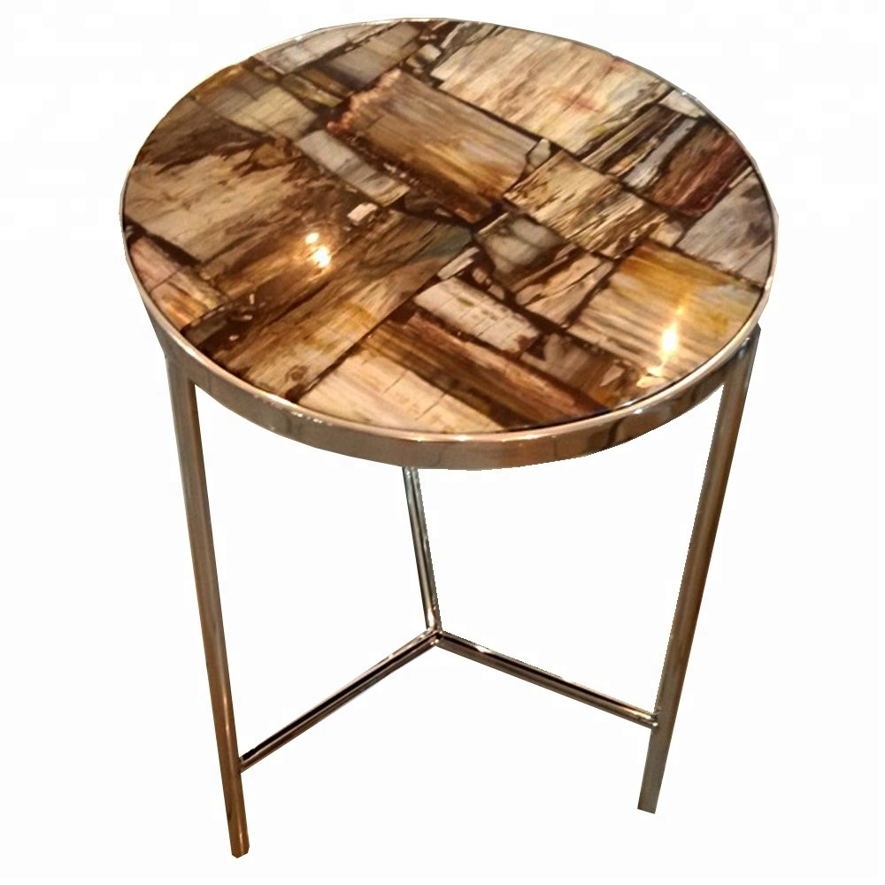 round petrified fossil wooden precious stone living room side table buy petrified wood solid stone table petrified hot selling stone table for