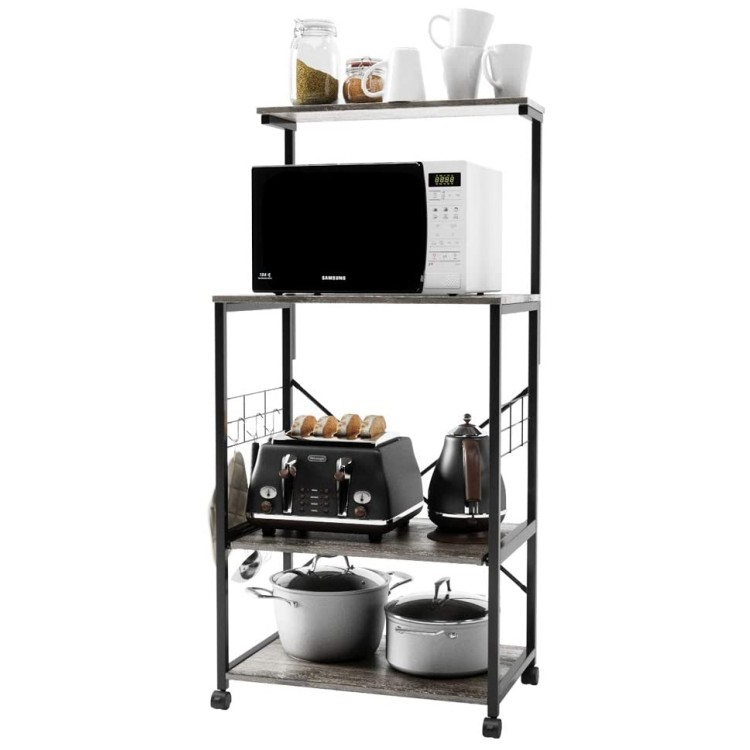 ruimei intelligent kitchen baker s rack microwave stand cart wooden display rack buy wooden display rack kitchen baker s rack microwave stand cart