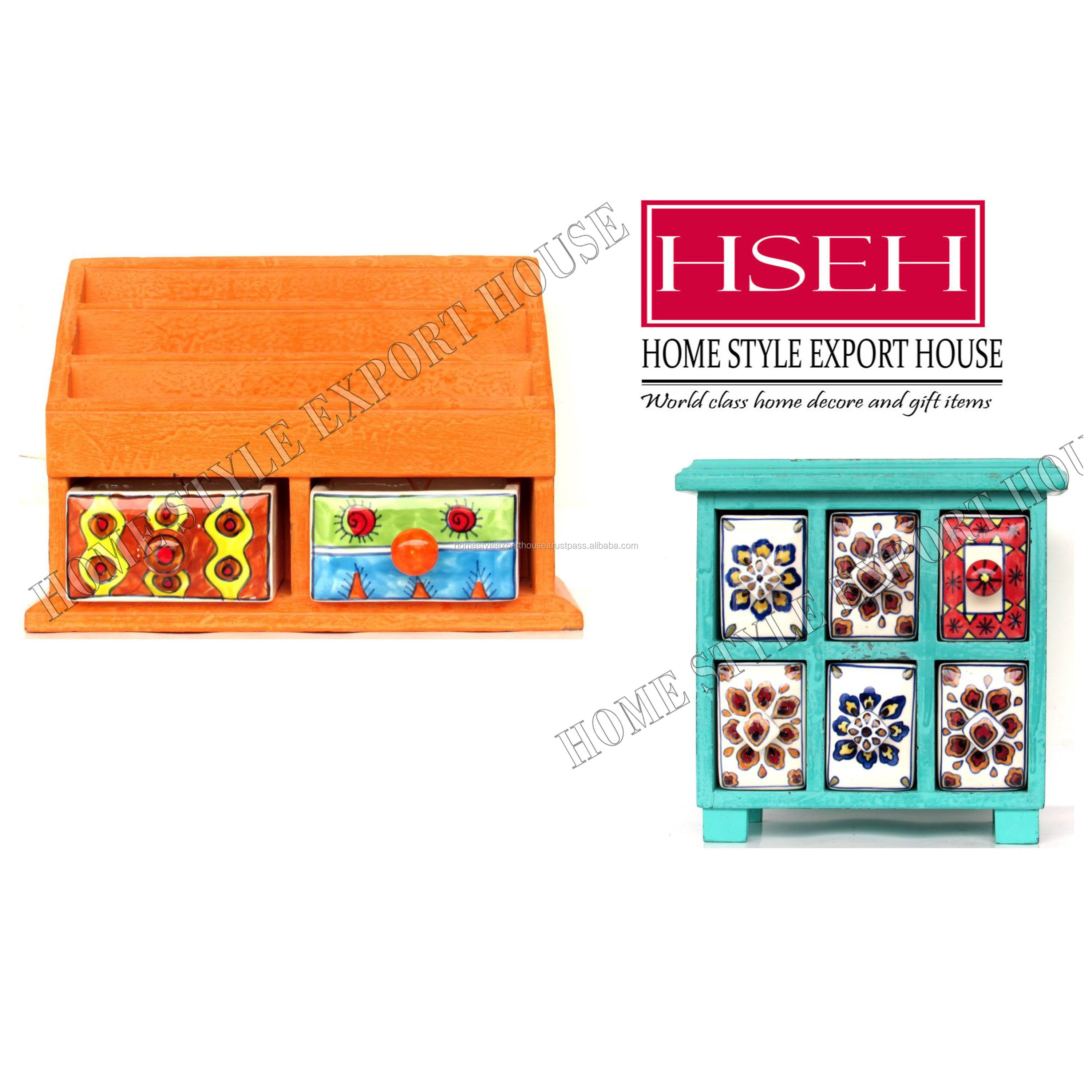 wooden drawer with ceramic box magazine holder decorative wooden chest of drawer kitchen spice rack distress finished wholesale buy handmade wood cabinet small drawer wooden chest with ceramic box mini wooden