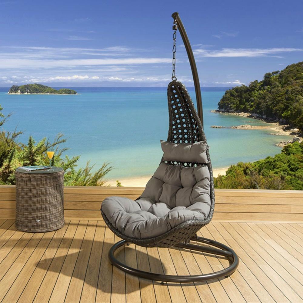patio wicker outdoor rattan swing hanging egg chair outdoor modern garden outdoor hanging chair rattan waterproof cushion buy patio swing egg