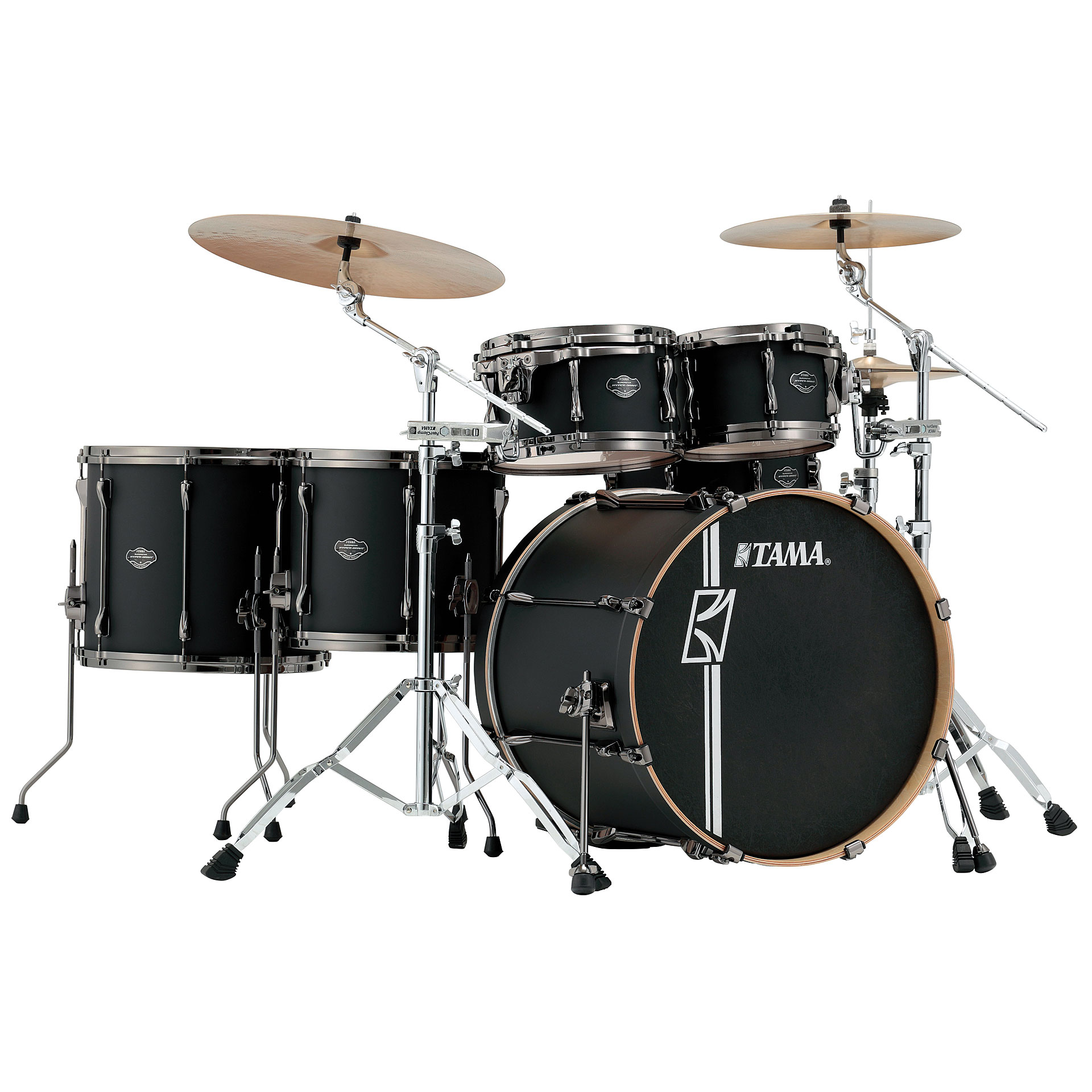 Tama Superstar Custom 22  Flat Black      Drum Kit Drum Kit Tama Superstar Custom 22 Flat Black