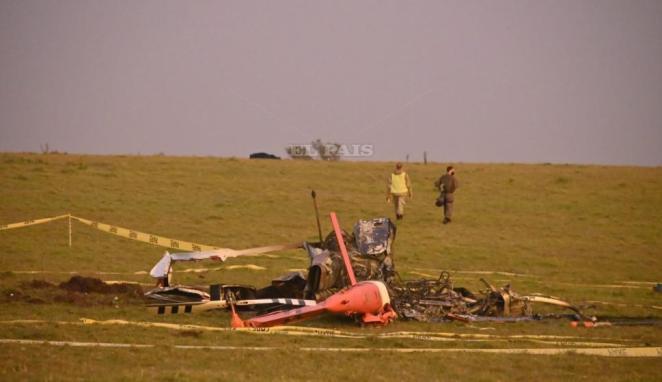 Se accidentó un helicóptero de la Fuerza Aérea con vacunas Pfizer. Foto: Ricardo Figueredo