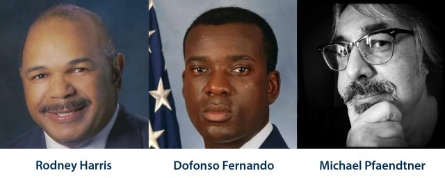 Rodney Harris, Dofonso Fernando and Michael Pfaendtner