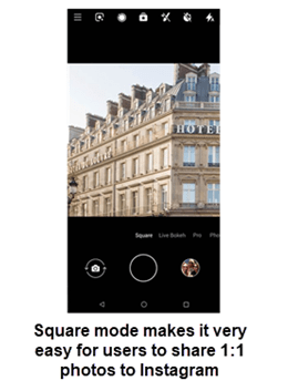 Nokia 2 V Square Mode screenshot