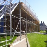 Scaffolding on Parliament Hill