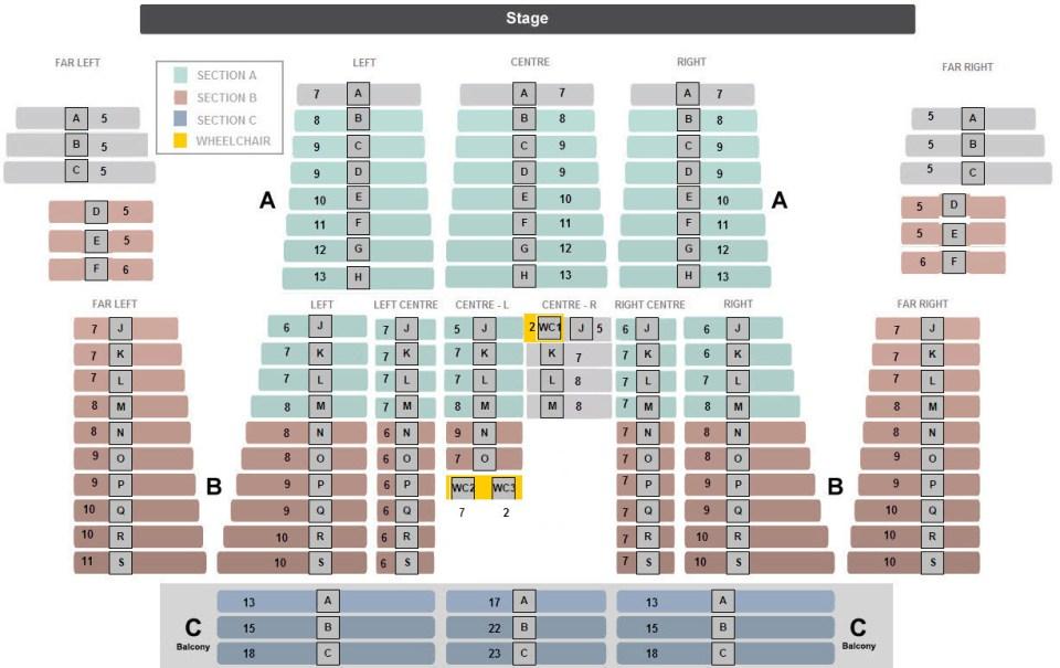 SCA Theatre Seats