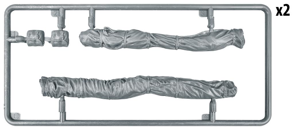 1/35 Британские Рюкзаки, Сумки и Сложенный Брезент 2МВ 35599