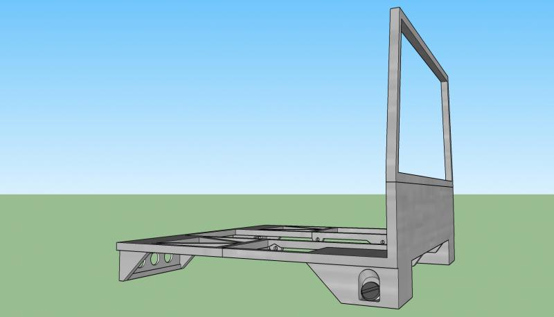 Complete Rear Bed lower frame b