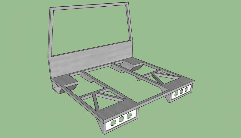 Complete Rear Bed lower frame