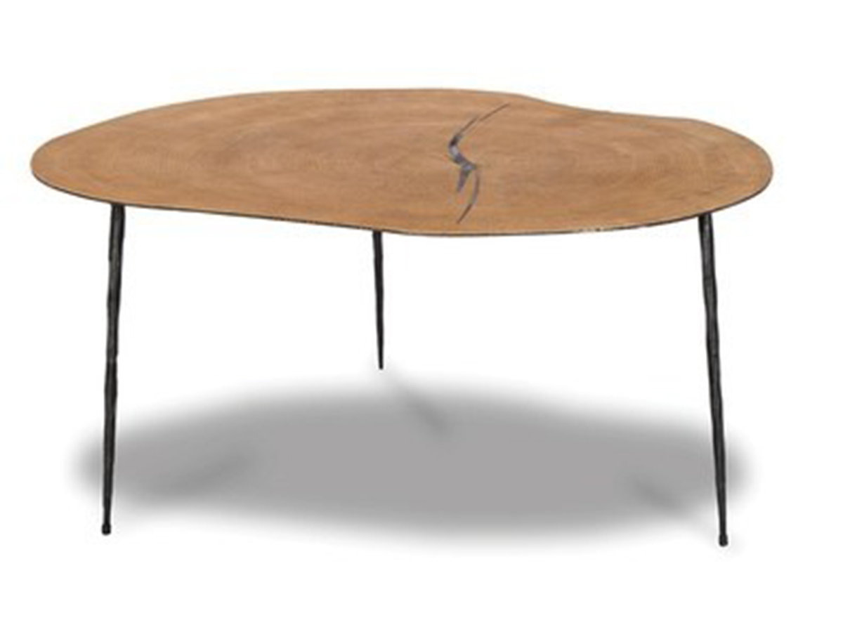 Oakley Forged Steel Oak Veneer Tall Coffee Table By Mobital Scan Design Furniture