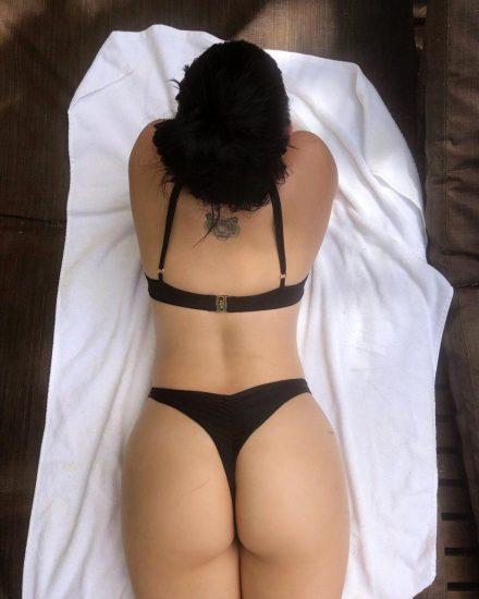 Ariel Winter in black lingerie