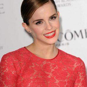Emma Watson nipples in red dress