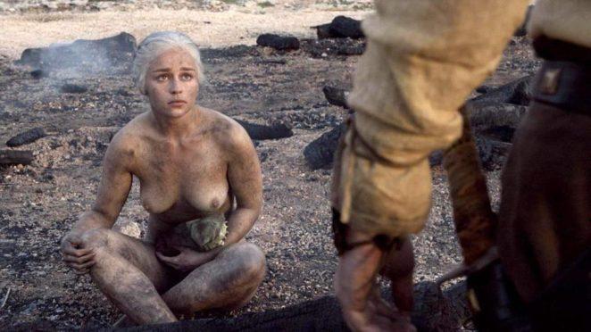Emilia Clarke nude in GOT