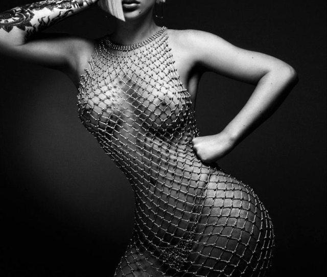 Iggy Azalea Tits In See Through Mesh Dress