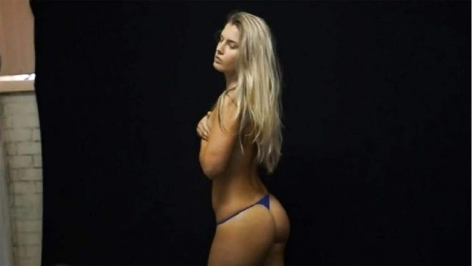 Toni Storm nude covered topless