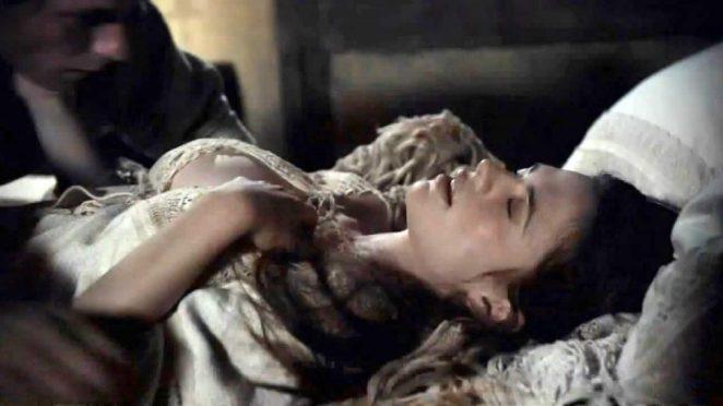 Hayley Atwell tits in sex scene