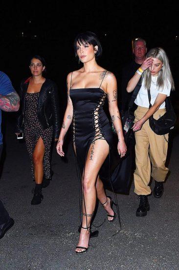 Halsey tattoo and legs