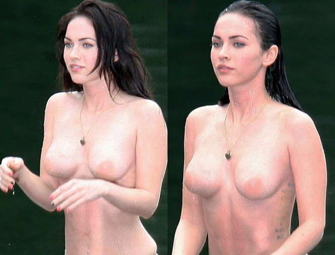 Megan Fox nude in backstage