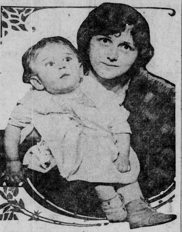 Catherine Rosier and son RIchard