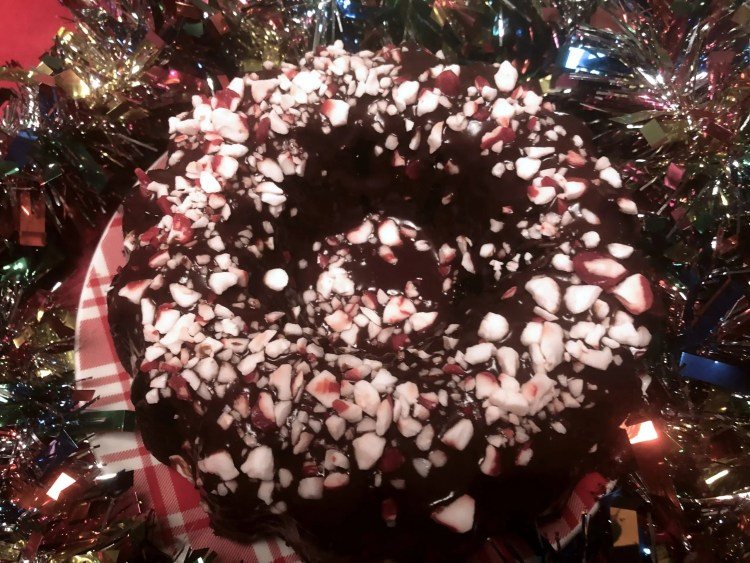 Cake Recipes - Grandma Lillian's Chocolate Peppermint Bundt Cake