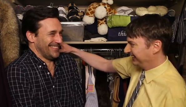Jon Hamm Gets a Visit From the 'Tickle Spider'