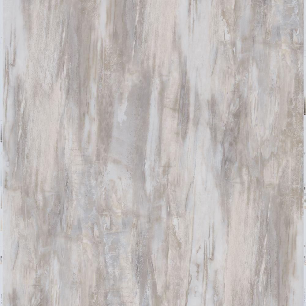white petrified wood 12 in x 24 in peel and stick vinyl tile 20 sq ft case