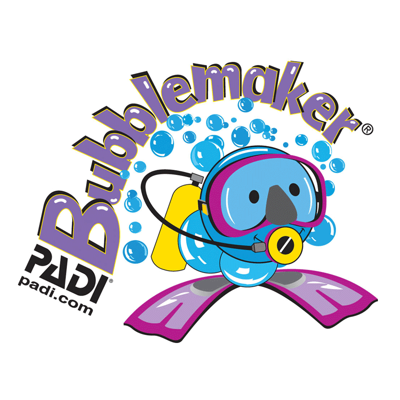 padi bubble maker kids scuba diving course