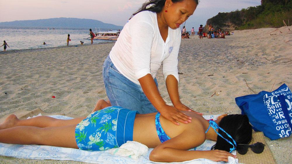 beach massage puerto galera