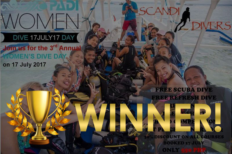 PADI Women's Dive Day 2017 winner