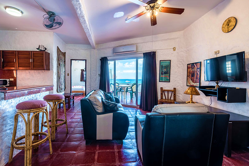 three bedroom suite living area scandi divers resort puerto galera