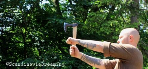 Axe throwing Viking games 2014 Denmark Frederikssund
