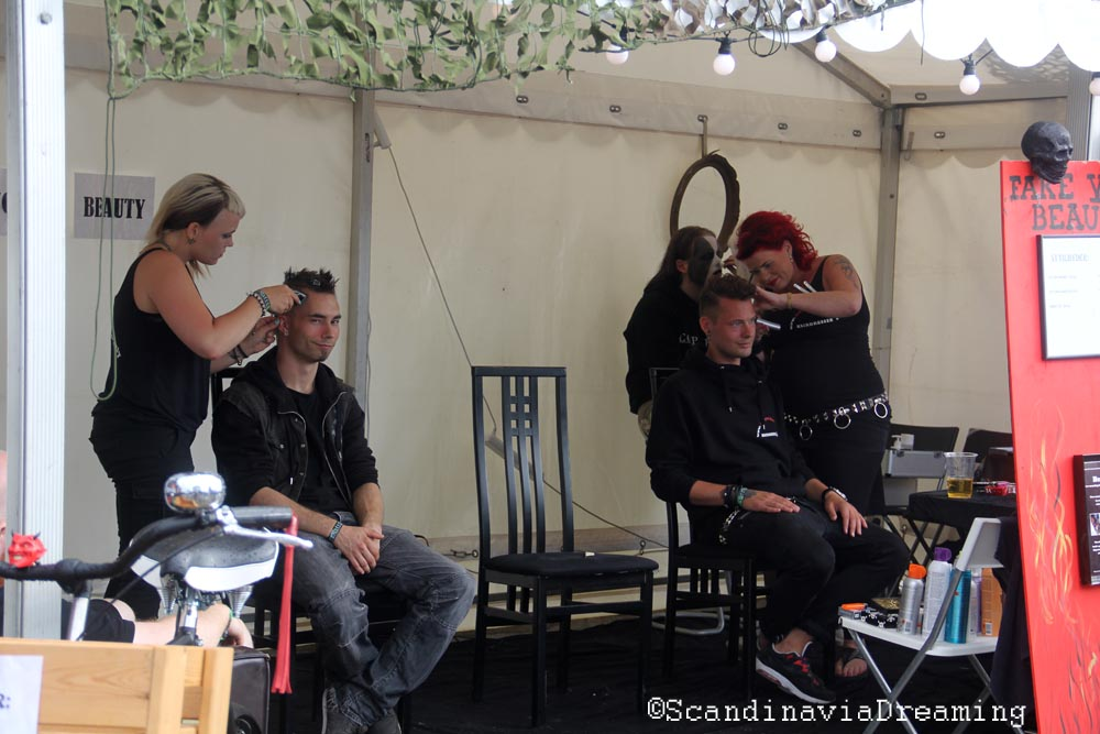 Copenhell hair dresser
