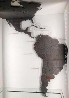Carte de l'amérique précolombienne Santiago