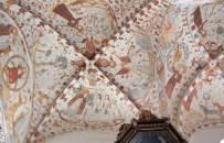 Fresques de la voûte de l'église de Fjanefjord sur Mon au Danemark