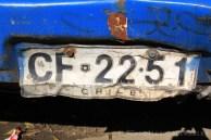 Plaque minéralogique chilienne