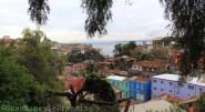 Vue de Valparaiso de la via Alemania