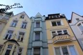 Petites maison en face de la cathédrale d'Aachen