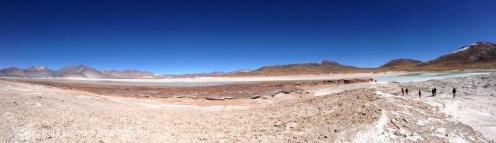 Lacs gelés dans l'Altiplanico atacamène