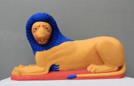 Lion babylonien recolorisé