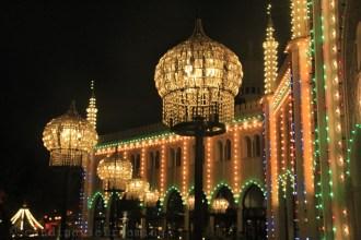 Lumières du parc de Tivoli pendant Halloween