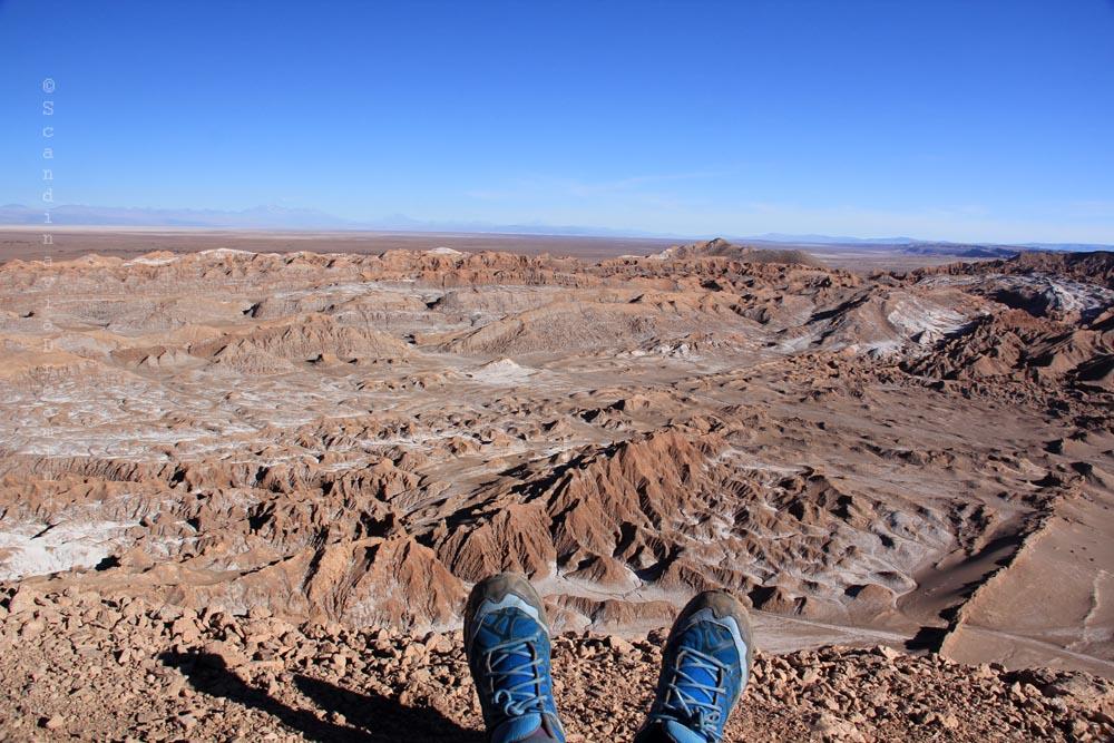 Pause pour les pieds dans le désert de San Pedro de Atacama